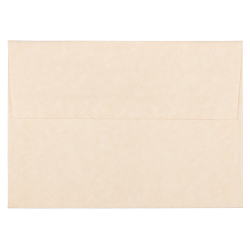 """JAM Paper® Parchment Booklet Invitation Envelopes, A6, 4 3/4"""" x 6 1/2"""", 30% Recycled, Natural, Pack Of 25"""