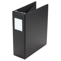 """Wilson Jones® Hanging View 3-Ring Binder, 2"""" Square Rings, Black"""
