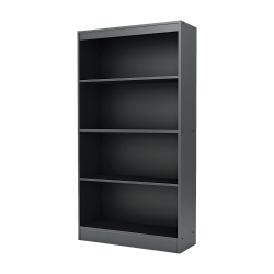 "South Shore Axess 56"" 4 Shelf Contemporary Bookcase, Black/Dark Finish, Standard Delivery"