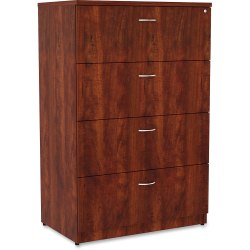 "Lorell® Essentials 36""W Lateral 4-Drawer File Cabinet, Cherry"