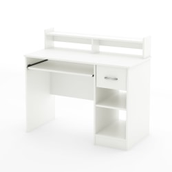 South Shore Axess Desk With Keyboard Tray and Hutch, White