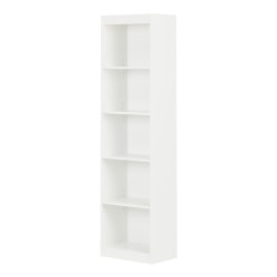 South Shore Axess 5-Shelf Narrow Bookcase, Pure White