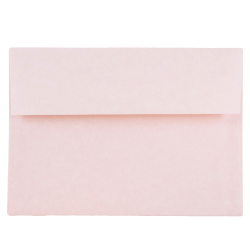 "JAM Paper® Parchment Booklet Invitation Envelopes (Recycled), A7, 5 1/4"" x 7 1/4"", 30% Recycled, Pink Ice, Pack Of 25"