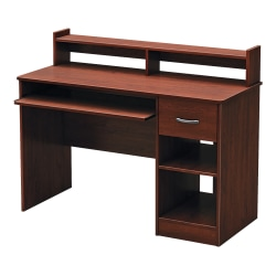South Shore Axess Desk With Keyboard Tray and Hutch, Royal Cherry