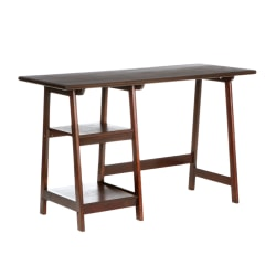 Southern Enterprises Langston Straight Desk, Espresso
