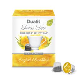 Dualit And Nespresso® Compatible Fine Tea NX Capsules, English Breakfast, 2.2 Grams, Carton Of 75