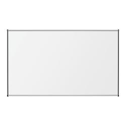 """Lorell® Porcelain Unframed Dry-Erase Whiteboard, 96"""" x 48"""", Satin Aluminum Frame"""