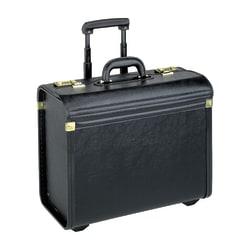 Lorell® Oversized Rolling Catalog Case, Black