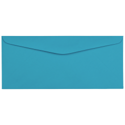 "JAM Paper® Booklet Envelopes with Gummed Closure, #9 3 7/8"" x 8 7/8"", Blue, Pack Of 50"