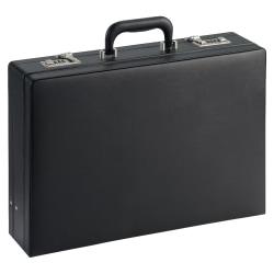 """Lorell® Expandable Attache Case, 12 1/2""""H x 17 1/2""""W x 4""""D, Black"""