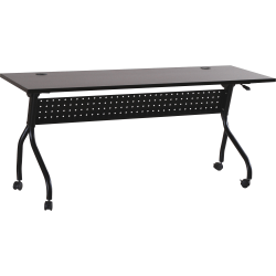 "Lorell® Flip Top Training Table, 72""W, Espresso/Black"