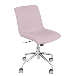 Elle Décor Adelaide Mid-Back Task Chair, Pink/Rose Gold