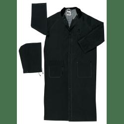 Classic Plus Rider Rain Coat, 0.35 mm PVC/Polyester, Black, 49 in Medium
