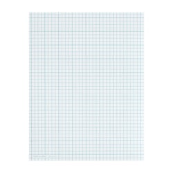 """TOPS™ Cross Section Pad, 8 1/2"""" x 11"""", Quadrille Rule, 50 Sheets, White Paper/Blue Ink"""