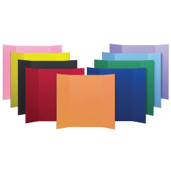 """Flipside Corrugated Project Boards, 48"""" x 36"""", 9 Assorted Colors, Pack Of 24"""