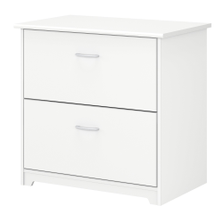 "Bush Business Furniture Cabot 30-1/4""W Lateral 2-Drawer File Cabinet, White, Standard Delivery"
