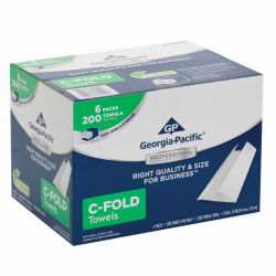 Georgia-Pacific® by GP PRO Professional Series™ Convenience Pack 1-Ply Premium C-Fold Paper Towels, 200 Sheets Per Roll, Pack Of 6 Rolls