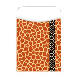 "Barker Creek Library Pockets, 3 1/2"" x 5 1/8"", Giraffe, Pack Of 30"
