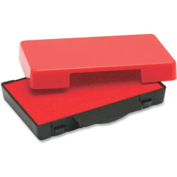 Trodat E4822 Replacement Ink Pad - 1 Each - Red Ink - Red - Plastic