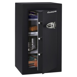 Sentry®Safe Executive Security Safe With Electronic Lock, 6.10 Cu Ft Capacity, Black/Steel