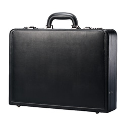 "Samsonite® Bonded Leather Attach? Case, 13""H x 17.9""W x 4 1/4""D, Black"