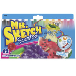 Sanford® Mr. Sketch® Watercolor Markers, Scented Assorted Colors, Set Of 12