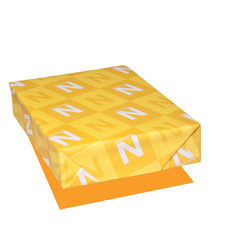 "Astrobrights® Color Paper, Letter Size (8 1/2"" x 11""), FSC® Certified, Cosmic Orange, Ream Of 500 Sheets"
