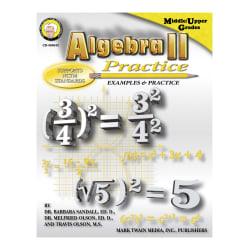 Mark Twain Algebra II Practice Book, Grades 7+