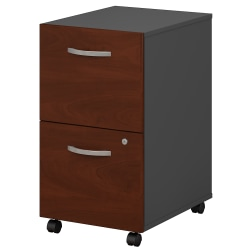 Bush Business Furniture Components 2 Drawer Mobile File Cabinet, Hansen Cherry/Graphite Gray, Standard Delivery