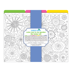 Barker Creek File Folders, Letter Size, Color Me! In My Garden, Pack Of 12