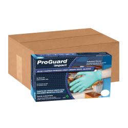 ProGuard Aloe Coated Powder-Free Vinyl General Purpose Gloves, Medium, Green, 100 Pairs Per Box, Case Of 10 Boxes