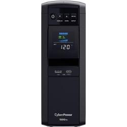 CyberPower CP1500PFCLCD UPS 1500VA 1000W PFC compatible Pure sine wave - 1500VA/900W - Tower - 2 Minute Full Load - 10 x NEMA 5-15R
