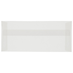 """JAM Paper® Booklet Envelopes With Gummed Closure, #10, 4 1/8"""" x 9 1/2"""", Clear, Pack Of 25"""