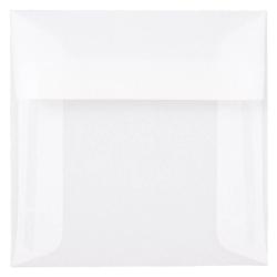 """JAM Paper® Translucent Vellum Invitation Envelopes, 5"""" x 5"""", Clear, Pack Of 25"""