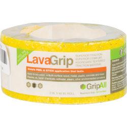 "GripAll LavaGrip Anti-Slip Strip, 6"" x 4', Yellow"