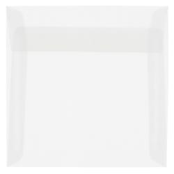 """JAM Paper® Translucent Vellum Invitation Envelopes, 6"""" x 6"""", Clear, Pack Of 25"""