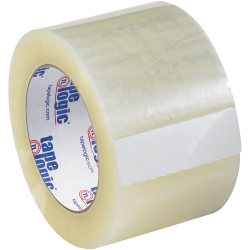 "Tape Logic® Quiet Carton-Sealing Tape, 3"" Core, 2-Mil, 3"" x 110 Yd., Clear, Pack Of 6"