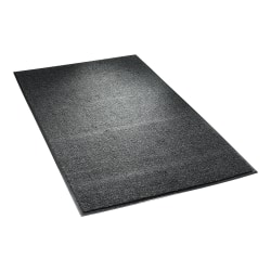 "Crown Dust-Star Wiper Mat, 36"" x 60"", Charcoal"