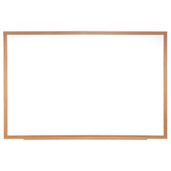 "Ghent Dry-Erase Whiteboard, 24"" x 36"", Brown Wood Frame"
