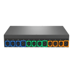 Geist Switched Outlet Level Monitoring EC MNU3EDR1-12P938-3TL21A0E10-S - Power distribution unit (rack-mountable) - AC 120/208 V - 8.6 kW - 3-phase WYE (star) - Ethernet 10/100