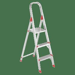 "Davidson Ladders 566 Euro Platform Aluminum 3-Step Ladder, 200 Lb, 36"" x 18 3/8"" x 31"", Red"