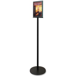 """Deflect-O® Double-Sided Sign Stand, 56""""H x 12 9/10""""W x 12 9/10""""D, Black"""