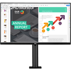 "LG 27"" QHD IPS HDR 10 USB-C Monitor With Ergo Stand"