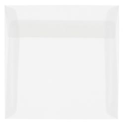"""JAM Paper® Translucent Vellum Invitation Envelopes, 8"""" x 8"""", Clear, Pack Of 25"""