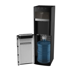 """Oasis Mirage Hot/Cold Floorstand Water Cooler, 12 1/4""""H x 13""""W x 41""""D, Stainless"""
