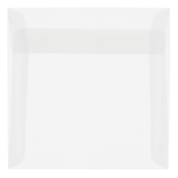 "JAM Paper® Translucent Vellum Invitation Envelopes, #9, 9"" x 9"", Clear, Pack Of 25"