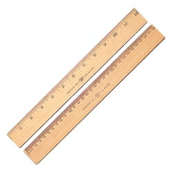 "Westcott® 2-Sided Metric Ruler, 1/16""/1 mm Increments"
