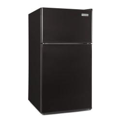 Igloo 3.2 Cu Ft Double-Door Refrigerator With Freezer, Black
