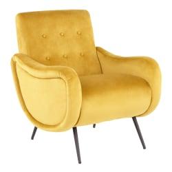 LumiSource Rafael Lounge Chair, Black/Yellow