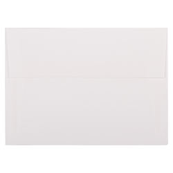 """JAM Paper® Booklet Invitation Envelopes (Recycled), A7, 5 1/4"""" x 7 1/4"""", 30% Recycled, Strathmore Bright White, Pack Of 25"""